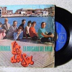 Discos de vinilo: LOS DEL SOL.SERENATA-LA BRIGADA DEL AMOR...RARO. Lote 151764738