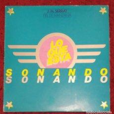 Discos de vinilo: JOAN MANUEL SERRAT (PIEL DE MANZANA) LP 1975 SERIE LO QUE ESTA SONANDO. Lote 151774342