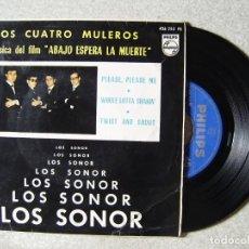 Discos de vinilo: LOS SONOR.LOS CUATRO MULEROS + 3. Lote 151800318