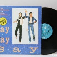 Discos de vinilo: DISCO MAXI SINGLE DE VINILO - PAUL MCCARTNEY, MICHAEL JACKSON / SAY SAY SAY - EMI ODEON - 1983. Lote 151804844