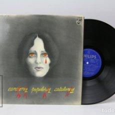 Discos de vinilo: DISCO LP DE VINILO - CANCIONES POPULARES CATALANAS - PHILIPS - 1976 - ENCARTE CON LETRAS. Lote 151806516