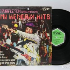 Discos de vinilo: DISCO LP DE VINILO - JIMI HENDRIX HITS / THE PURPLE FOX - SONIC - 1971 - GERMANY. Lote 151812866