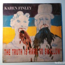 Discos de vinilo: KAREN FINLEY-THE TRUTH IS HARD TO SWALLOW (LP,POW WOW.1987) SIMILAR: LYDIA LUNCH, LAURIE ANDERSON. Lote 151815098