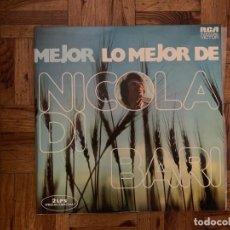 Discos de vinilo: NICOLA DI BARI – LO MEJOR DE NICOLA DI BARI SELLO: RCA VICTOR – SPL2-9914 FORMATO: 2 × VINYL, LP . Lote 151817602