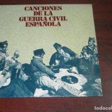 Discos de vinilo: CANCIONES GUERRA CIVIL ESPAÑOLA-VINILO SINGLE- VER DETALLES. Lote 151823302