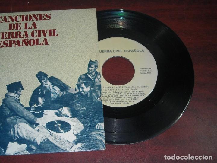 Discos de vinilo: CANCIONES GUERRA CIVIL ESPAÑOLA-VINILO SINGLE- VER DETALLES - Foto 2 - 151823302