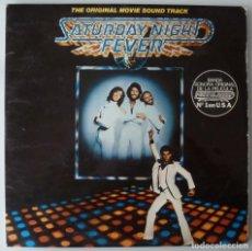 Discos de vinilo: B.S.O. SATURDAY NIGHT FEVER (DOBLE LP RSO 1977 ESPAÑA) BEE GEES · JOHN TRAVOLTA. Lote 151835942