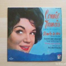 Discos de vinilo: CONNIE FRANCIS - CANTA EN ESPAÑOL - EL NOVIO DE OTRA - SINGLE - VINILO - MGM - 1961. Lote 151848362