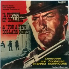 Discos de vinilo: ENNIO MORRICONE. A FISTFUL OF DOLLARS & FOR A FEW DOLLARS MORE (BSO) RCA, UK 1966 RE LP. Lote 151851942