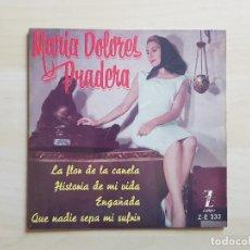 Discos de vinilo: MARIA DOLORES PRADERA - LA FLOR DE LA CANELA - SINGLE - VINILO - ZAFIRO - 1961. Lote 151852778