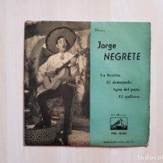 Discos de vinilo: JORGE NEGRETE - LA BURRITA - SINGLE - VINILO - LA VOZ DE SU AMO - 1959. Lote 151871446