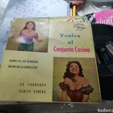 Disques de vinyle: VUELVE EL CONJUNTO CASINO EP RUMBA PA LOS RUMBEROS + 3 ESPAÑA 1961. Lote 221343228