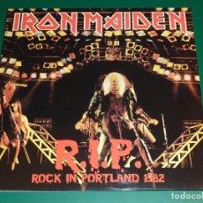 Discos de vinilo: IRON MAIDEN R.I.P. ROCK IN PORTLAND 1982 LP. Lote 151878018