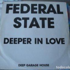 Discos de vinilo: FEDERAL STATE DEEPER IN LOVE . Lote 151880062