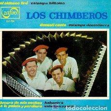 Discos de vinilo: LOS CHIMBEROS - EL ALDEANO TIRO / DONOSTI CANTA / LUCERO DE MIS NOCHES / A LA PELOTA Y PERDIERA - EP. Lote 151881546