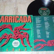 Discos de vinilo: BARRICADA- LA ARAÑA- LP 1994 MERCURY -CONTIENE FUNDA ORIGINAL CON LETRAS. Lote 151884782