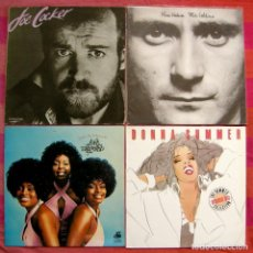 Discos de vinilo: 12 LPS - PHIL COLLINS, EARTH, WIND & FIRE, DONNA SUMMER, JOE COCKER, .... Lote 151895178