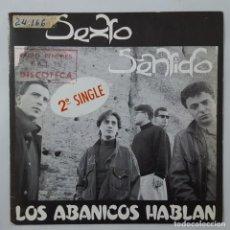Discos de vinilo: SINGLE / SEXTO SENTIDO / LOS ABANICOS HABLAN / SI EL SOL SE PONE / HISPAMUSIC 01.1008 / 1989. Lote 151908218