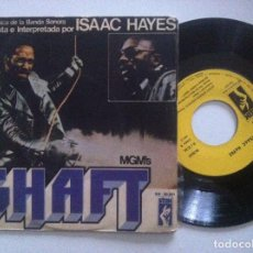 Discos de vinilo: ISAAC HAYES - THEME FROM SHAFT / SHAFT STRIKES AGAIN - SINGLE 1971 - STAX. Lote 151920318