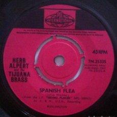 Discos de vinilo: HERB ALPERT & THE TIJUANA BRASS - SPANISH FLEA / CINCO DE MAYO - SINGLE UK 1965 - PYE. Lote 151921238