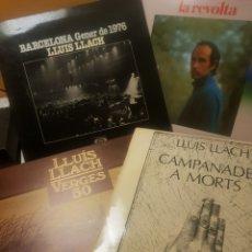 Discos de vinilo: LOTE DE 4 DISCOS DE VINILO LP LLUÍS LLACH. Lote 151927248