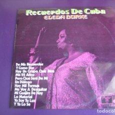 Discos de vinilo: ELENA BURKE LP AREITO MOVIEPLAY 1971 - RECUERDOS DE CUBA - NUEVA TROVA - SILVIO RODRIGUEZ - GUARACHA. Lote 151938562