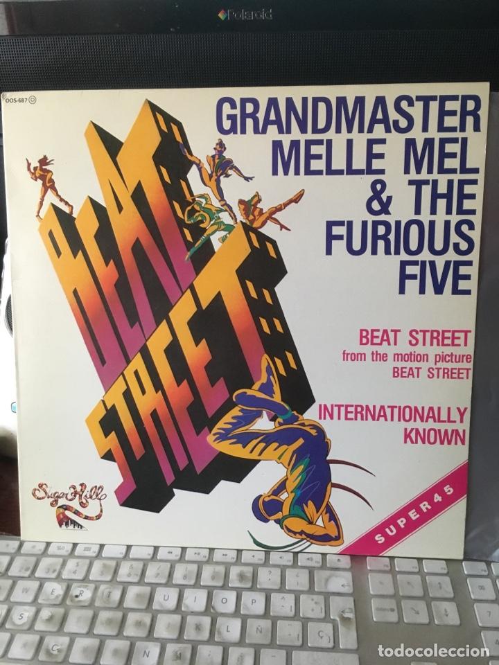 GRANDMASTER MELLE MEL & THE FURIOUS FIVE-BEAT STREET-1984-RARO PROMO-NUEVO (Música - Discos de Vinilo - Maxi Singles - Rap / Hip Hop)