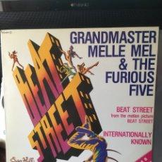 Discos de vinilo: GRANDMASTER MELLE MEL & THE FURIOUS FIVE-BEAT STREET-1984-RARO PROMO-NUEVO. Lote 151938621