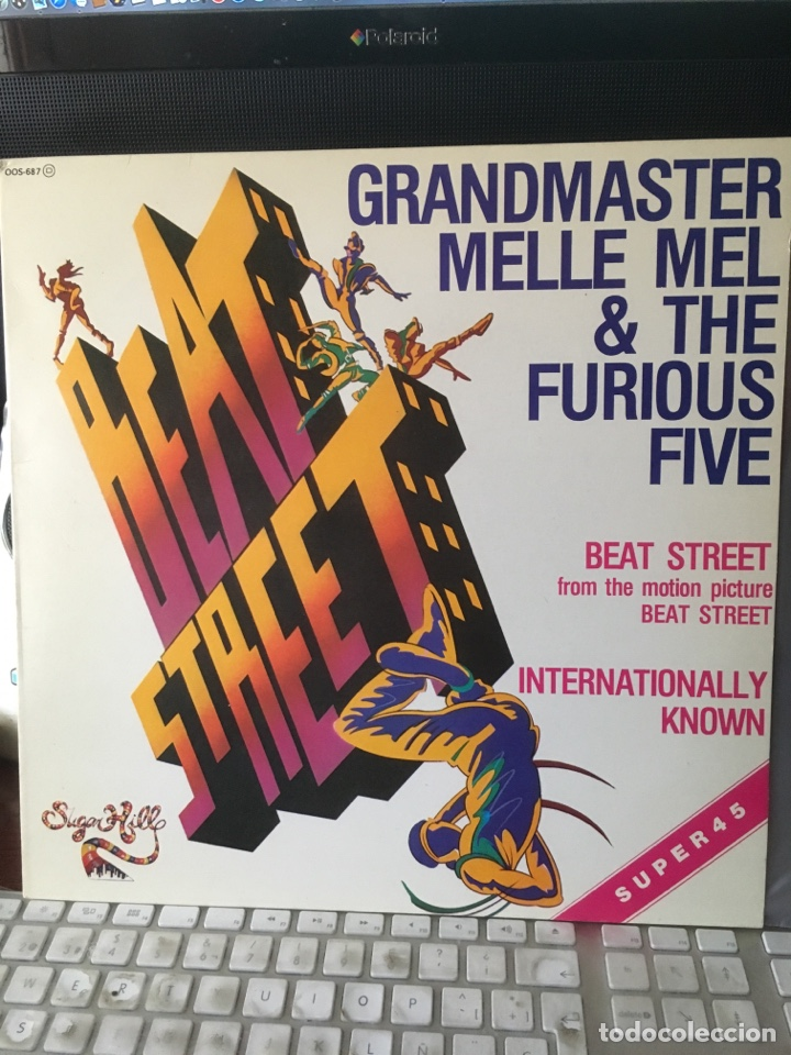 Discos de vinilo: GRANDMASTER MELLE MEL & THE FURIOUS FIVE-BEAT STREET-1984-RARO PROMO-NUEVO - Foto 2 - 151938621