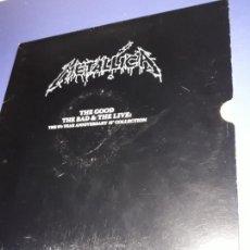 Discos de vinilo: METALLICA THE GOOD THE BAD AND THE LIVE BOX MAXI. Lote 151953638