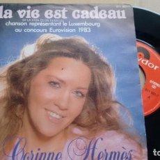 Discos de vinil: SINGLE (VINILO) DE CORINNE HERMÉS AÑOS 80 ( EUROVISION). Lote 151954154