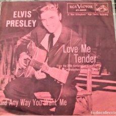 Discos de vinilo: ELVIS PRESLEY - LOVE ME TENDER - SINGLE USA 1956 1ª ED.. Lote 151955866