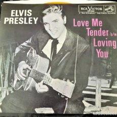 Discos de vinilo: ELVIS PRESLEY - LOVE ME TENDER - SINGLE USA 1984 . Lote 151958714