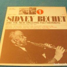 Discos de vinilo: LOTE LP SIDNEY BECHET AND THE NEW ORLEANS FEETWARMERS SELLO JOKER 1974 ED ITALIA..SALIDA 1 EURO. Lote 151980126