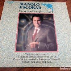 Discos de vinilo: MANOLO ESCOBAR. SUS PRIMERAS COPLAS. VOL. 1. VINILO Y CARPETA EN BUEN ESTADO. Lote 151989402