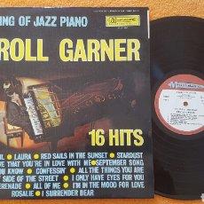 Discos de vinilo: ERROL GARNER THE KING OF JAZZ PIANO LP FRANCE. Lote 151997364