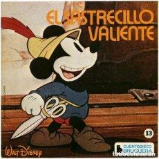 Discos de vinilo: WALT DISNEY - MICKEY MOUSE, EL SASTRECILLO VALIENTE (Nº 13) - EP CUENTO-DISCO BRUGUERA 1972. Lote 152003346