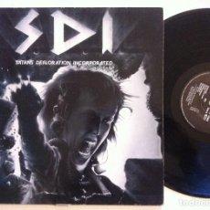 Discos de vinilo: S.D.I - SATANS DEFLORATION INCORPORATED - LP ALEMAN 1986 - SCRATCHCORE. Lote 152010106