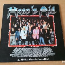 Discos de vinilo: LP HEAR N AID SPAIN 1986 ACCEPT DIO MOTORHEAD SCORPIONS. Lote 152010190