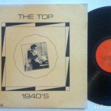 Discos de vinilo: HOT POKER BIG BAND - THE TOP 1940´S - LP MONO UK 1979 - MUSIC THE WOLFE. Lote 152017530