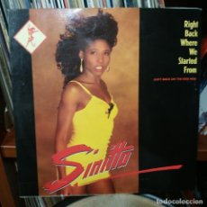 Discos de vinilo: SINITTA - RIGHT BACK WHERE WE STARTED FROM. Lote 152018530