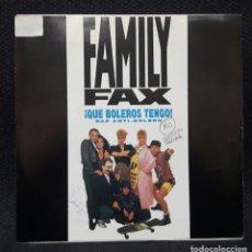 Discos de vinilo: FAMILY FAX - QUE BOLEROS TENGO - RAP ANTI BOLERO - SINGLE CENSURADO - PABLO PINILLA - NO USO CORREOS. Lote 152019990