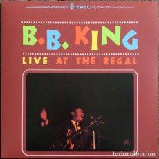 Discos de vinilo: LP B.B. KING – LIVE AT THE REGAL VINILO AMARILLO. Lote 152020102
