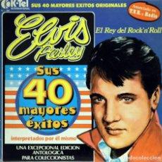 Discos de vinilo: ELVIS PRESLEY / SUS 40 MAYORES ÉXITOS (2 LP) 1977 (K-TEL INTERNACIONAL). Lote 152020994