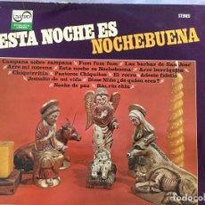 Discos de vinilo: LP ESCOLANIA DE LA IGLESIA-ESTA NOCHE ES NOCHE BUENA. Lote 152028878