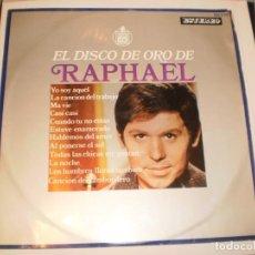 Discos de vinilo: LP RAPHAEL. EL DISCO DE ORO DE RAPHAEL. HISPAVOX 1968 SPAIN (DISCO PROBADO Y BIEN, EN BUEN ESTADO). Lote 152030178