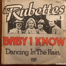 Discos de vinilo: THE RUBETTES ‎– BABY I KNOW SELLO: STATE RECORDS (3) ‎– 20 88 048 FORMATO: VINYL, 7 , SINGLE . Lote 152035646