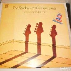 Discos de vinilo: LP DOBLE THE SHADOWS 20 GOLDEN GREATS REFLEJO 1977 SPAIN CARPETA DOBLE (PROBADOS Y BIEN). Lote 152036090