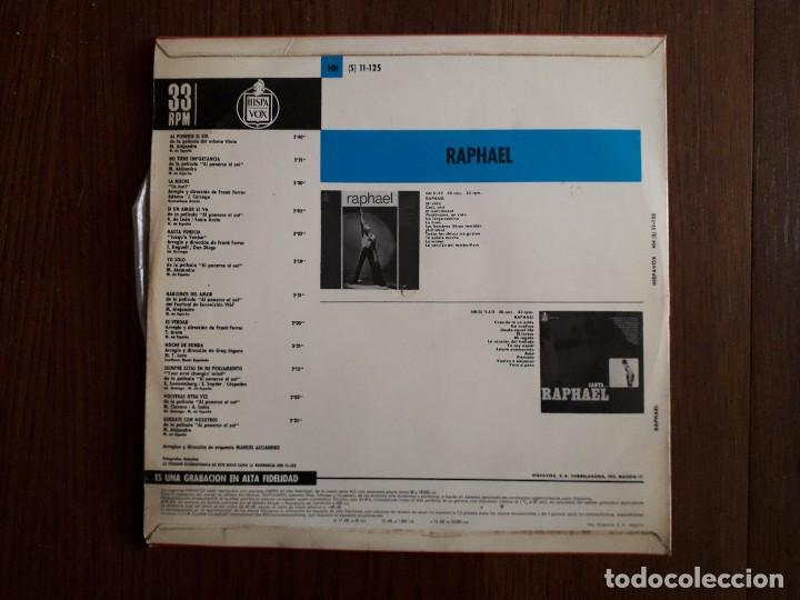 Discos de vinilo: disco vinilo LP Raphael. Hispavox HH 11-125 año 1967 - Foto 2 - 152047394