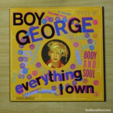 Discos de vinilo: BOY GEORGE - EVERYTHING I OWN - MAXI. Lote 152105638